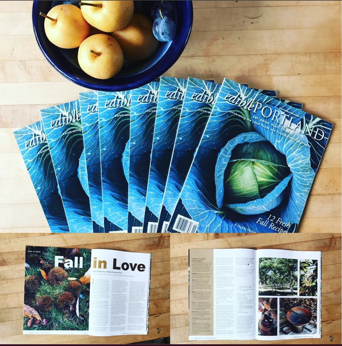 edible Portland - Nella Chestnut Farm Sept/Oct 2017 Issue